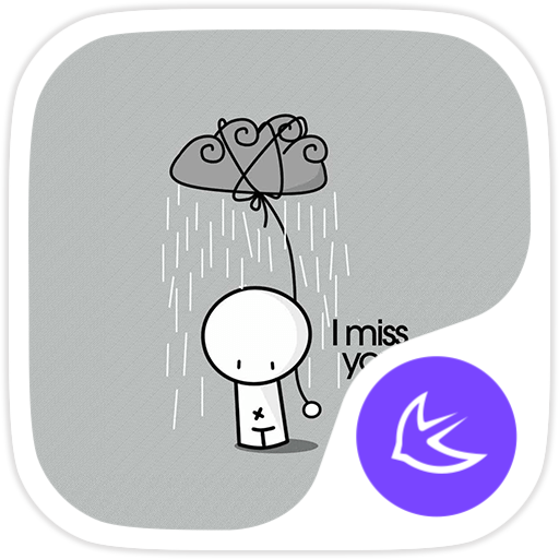 I MISS YOU-APUS Launcher theme