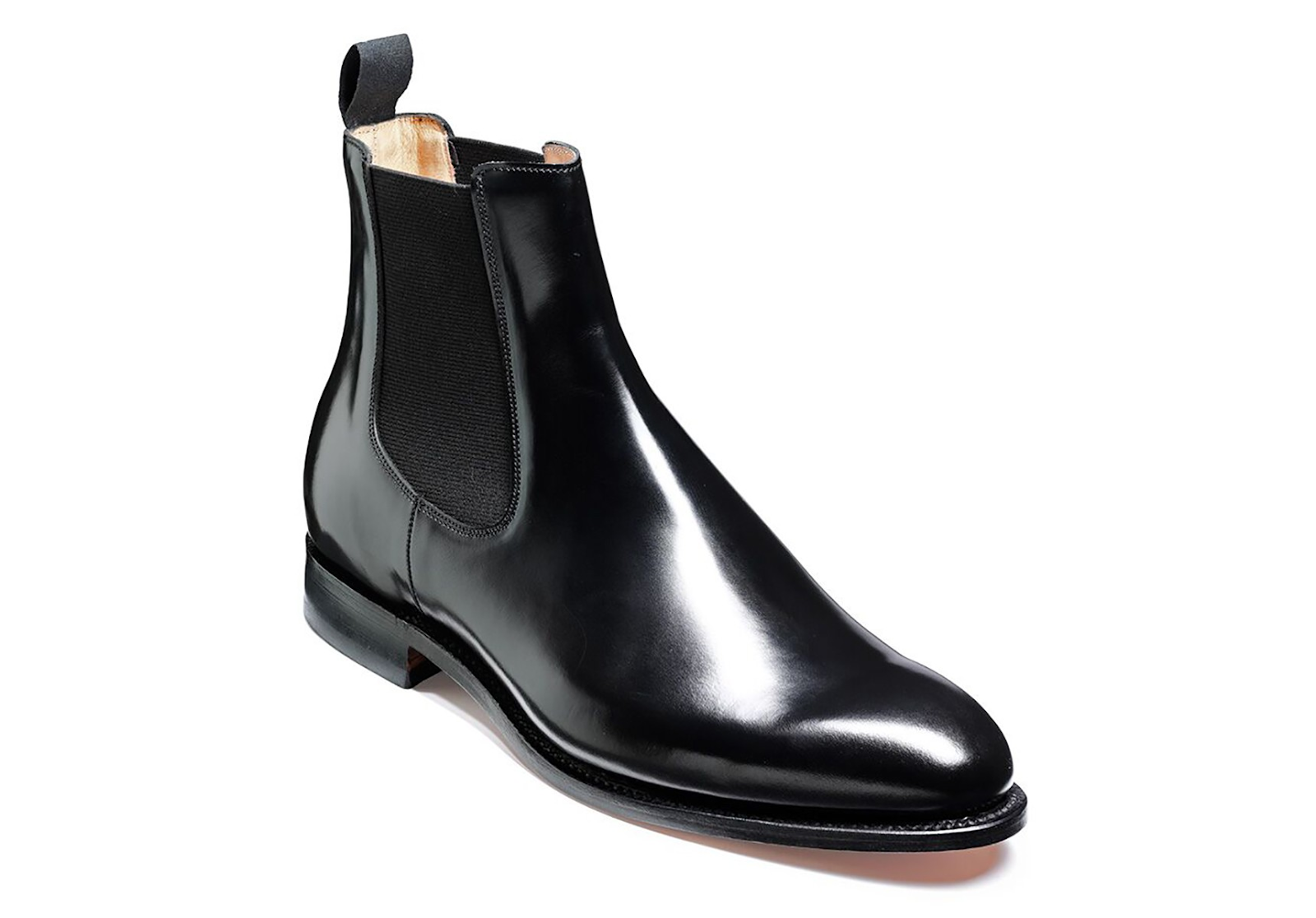 Barker Bedaale Chelsea Boot in black Hi-Shine