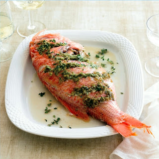 Mediterranean Grilled Whole Rockfish Recipe