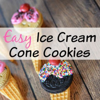 Ice Cream Cone Cookies.