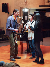 Photo: Second half for student ensembles: Clarinet trio