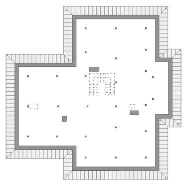 Błękitna rapsodia - M146 - Rzut poddasza do indywidualnej adaptacji (84 m2 powierzchni użytkowej)