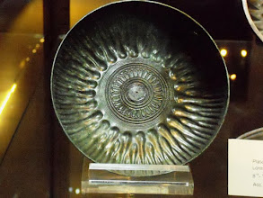 Photo: Bronze Plate with Lotus flower, Lorestan, western-Iran, 7th-8th century BC