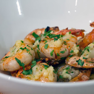 Garlic Butter Prawns.