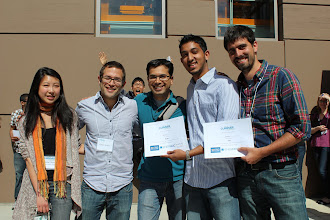 Photo: Thermostatly. Best overall app and best smart home app. They take home $1500 and a photobomb from Julian