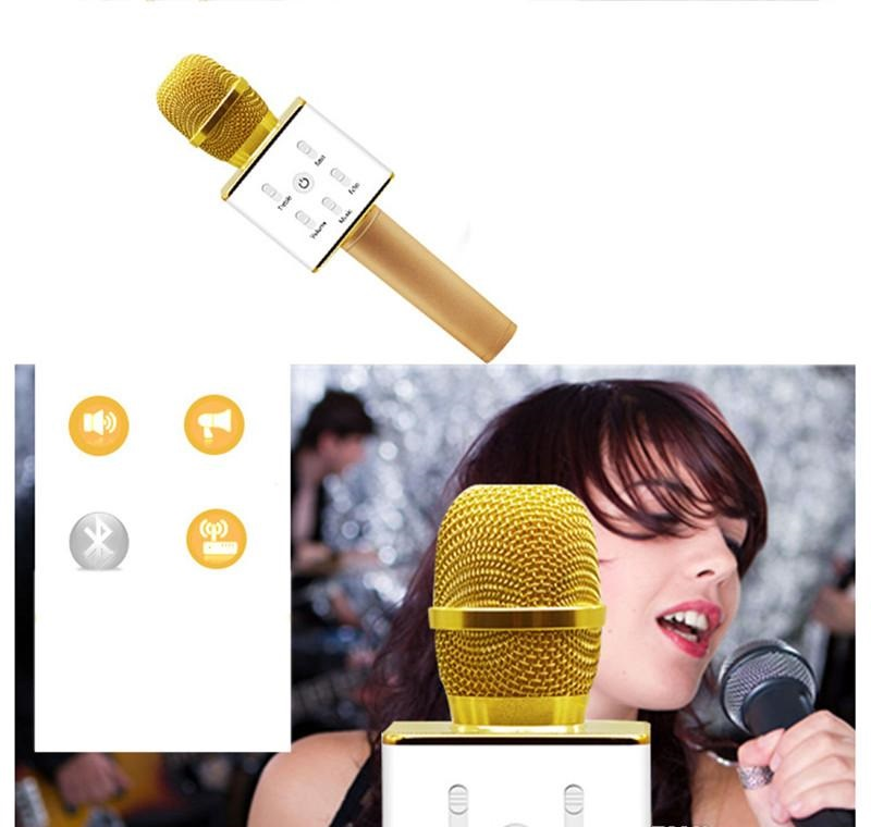 microphone bluetooth professionnel sans fil micro usb karaoke telephone podcast ebay. Black Bedroom Furniture Sets. Home Design Ideas