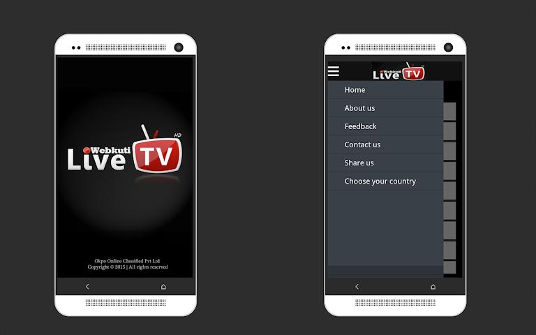 android WEBKUTI LIVE TV: MOBILE TV,  TV Screenshot 0
