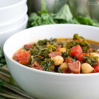 Kale Soup with Kielbasa