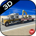 Heavy Crane Transporter Truck icon