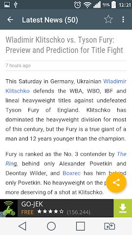 android Boxing News Screenshot 2
