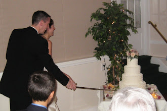 Photo: Cutting the cake