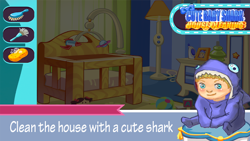 Cute Baby Shark House Cleaning 1.0 screenshots 2