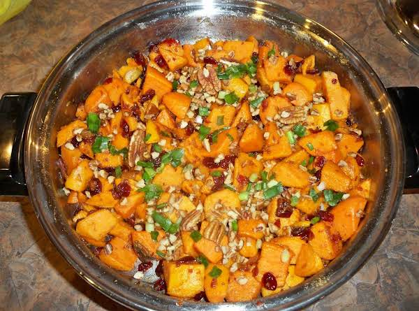 Cranberry Bacon Sweet Potatoes-annette's Recipe