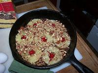 Melt the butter in a cast iron skillet and sprinkle with the brown sugar,...