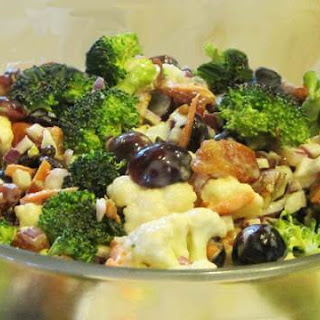 Cauliflower and Broccoli Salad Supreme