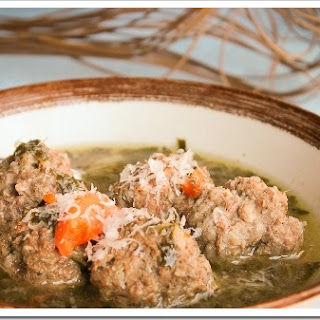 Quick Italian Wedding Meatball Soup with Greens
