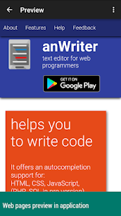 anWriter free HTML editor 2