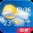 Live weather & clock widget 🌞 Icône