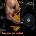 gym workout routines at home icon