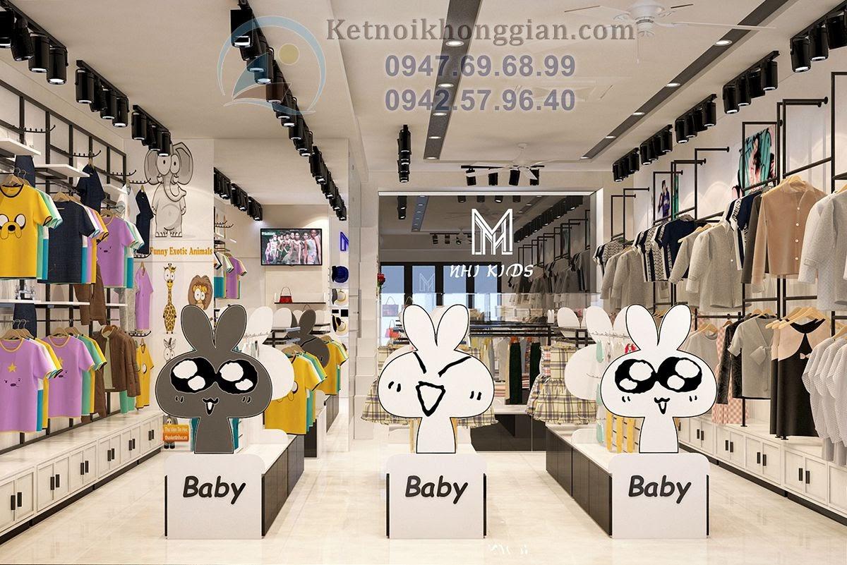 thiết kế shop thời trang trẻ em tại vincom