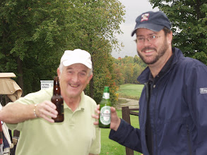 Photo: These two certainly have a beer!
