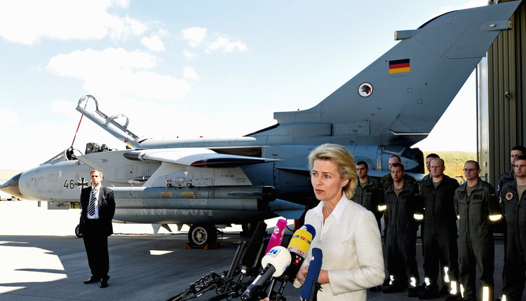 German air force Tornado fighter jet Ursula von der Leyen