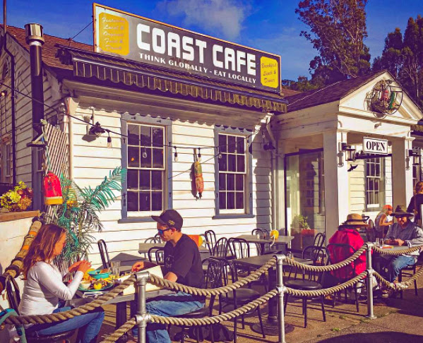 Front of Coast Cafe.