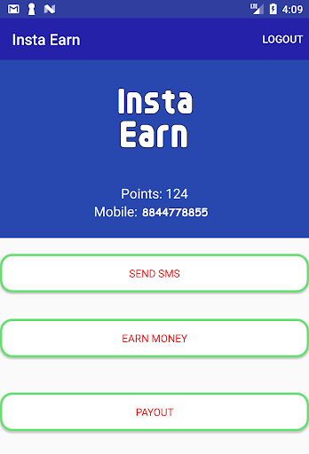 Download Insta Earn - Paytm Cash, Free SMS Send Any Number
