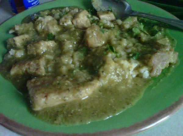 Chile Verde Sauce With Pork/ Chile Verde Con Cerdo Recipe