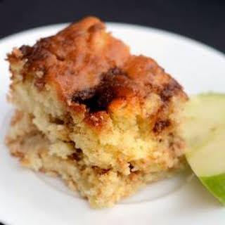 Apple Yogurt Cake with Cinnamon-Sugar Streak.
