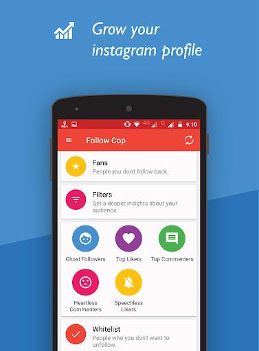 Unfollowers for Instagram, Follow Cop 4.5.1 screenshots 3