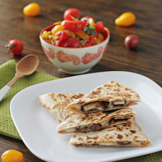 Mushroom Quesadillas with Tomato and Corn Salsa