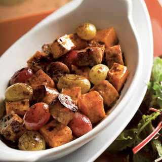 Oven Roasted Sausage with Sweet Potatoes and Grapes Recipe