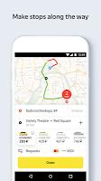 screenshot of Yandex.Taxi Ride-Hailing Service