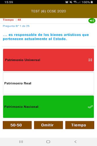 CCSE 2020 Examen Nacionalidad Espau00f1ola screenshots 6