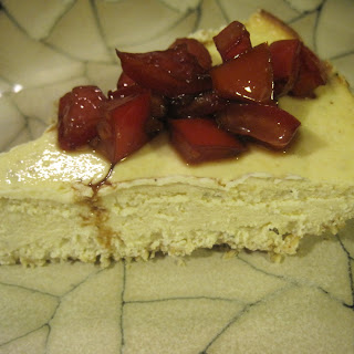 Savory Oat-Crusted Cheesecake with Marinated Tomatoes.