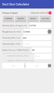 Download Duct Sizer APK latest version app for android devices