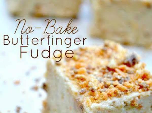 Easy No-bake Butterfinger Fudge Recipe