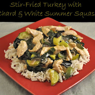 Stir-Fried Turkey with Chard and White Summer Squash
