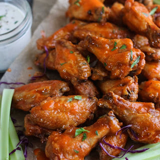 Crispy Baked Buffalo Wings.