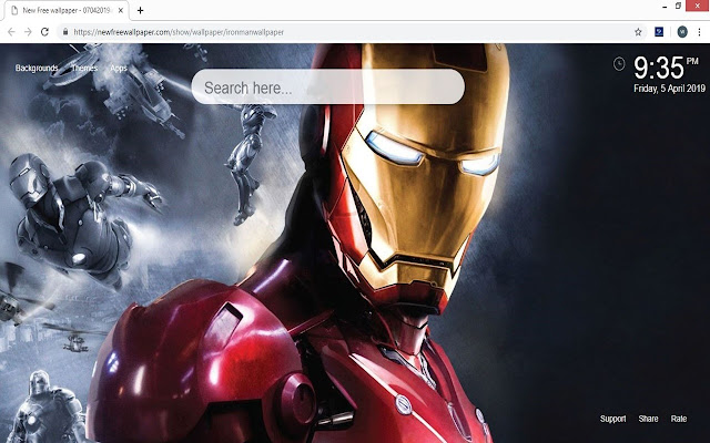 Iron Man Wallpapers HD new tabs
