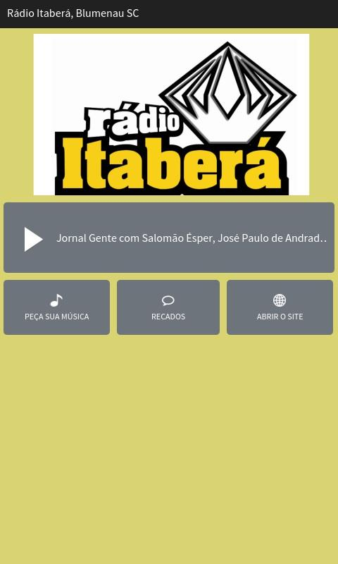 Rádio Itaberá Blumenau SC- screenshot