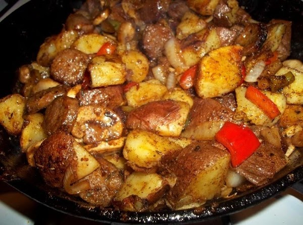Now, add the vegetables to the potatoes and toss thoroughly to combine. You may...