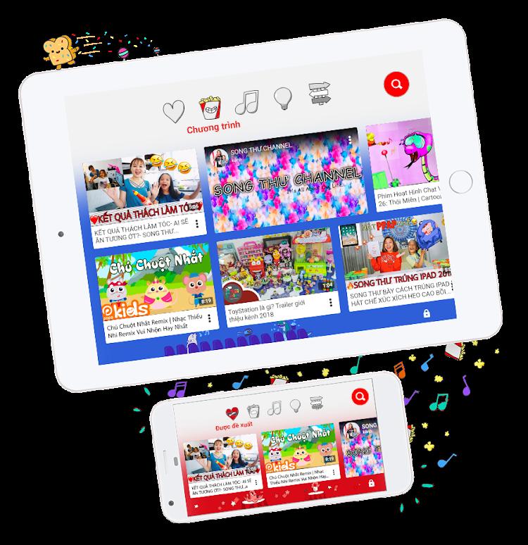 Học qua ứng dụng YouTube Kids