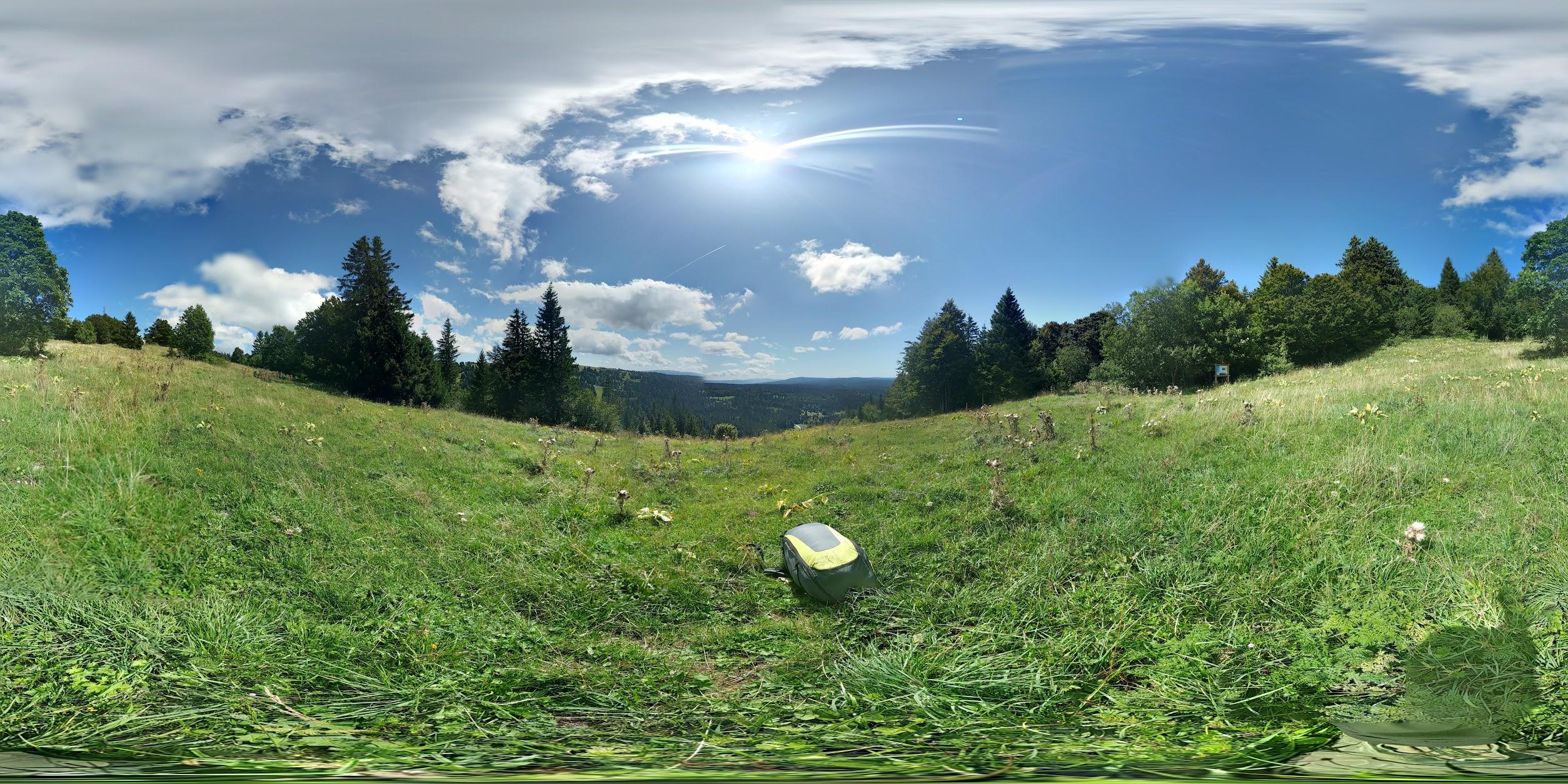 Photo: Photosphere décollage parapente Sud