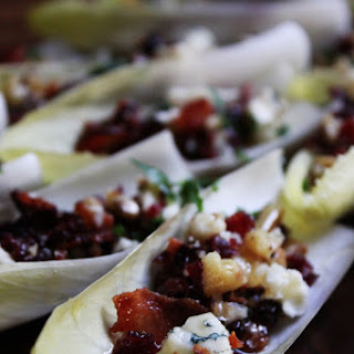 Endive Boats with Bacon, Walnuts, Cranberries & Gorgonzola Recipe