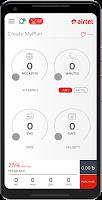 screenshot of Airtel MyPlan