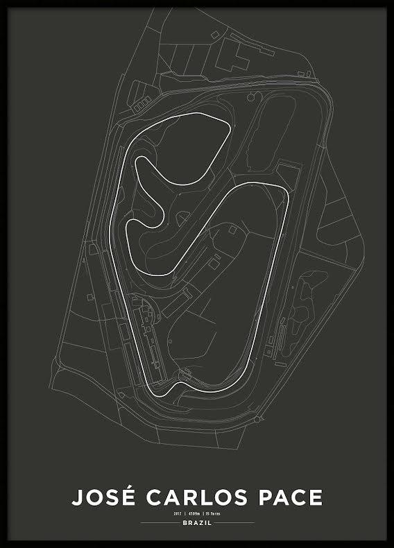 Poster, Autódromo José Carlos Pace Formula 1 Print