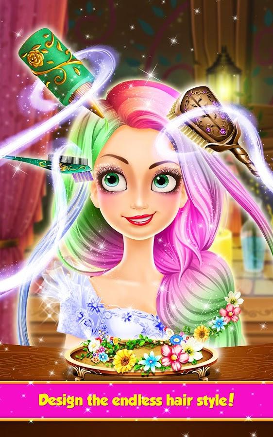 Fine Long Hair Princess Hair Salon Android Apps On Google Play Hairstyles For Women Draintrainus