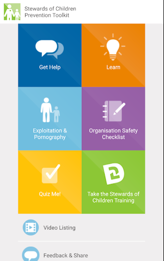 Stewards of Children Toolkit screenshot